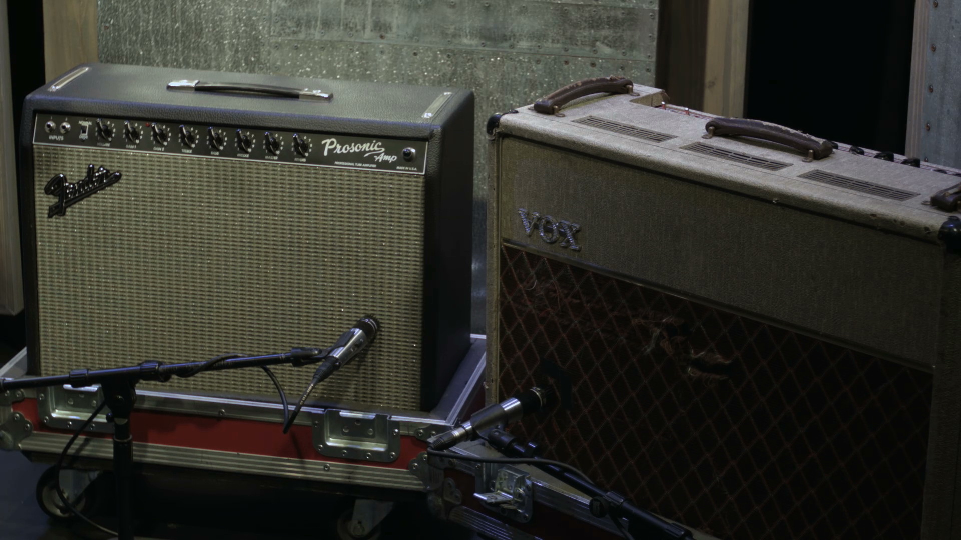 1 guitar amps and mics