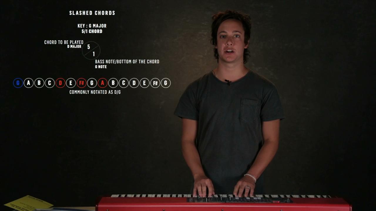 Music theory slash chords